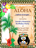 10 PERSONALISED CHILDRENS BIRTHDAY HAWAIIAN PARTY INVITATIONS WITH ENVELOPES