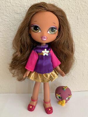 Girlz Girl Bratz Kidz 7 in Yasmin Doll Brown Hair Green Eyes Clothes Shoes Pet