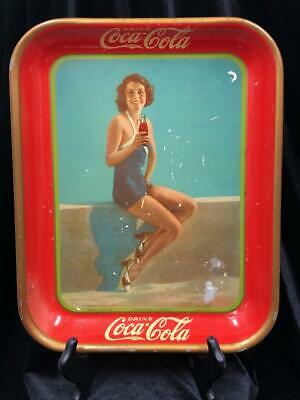 VINTAGE 1933 COCA-COLA SERVING TRAY FRANCES DEE PARAMOUNT PLAYER AUTHENTIC
