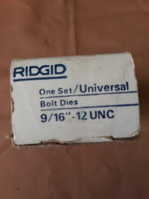 Ridgid 916-12 Unc Universal Bolt Dies Newoldstock