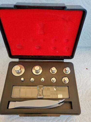 Troemner class 1 analytical balance calibration weights; 1,2,,5,10, 20, 50,100Gr
