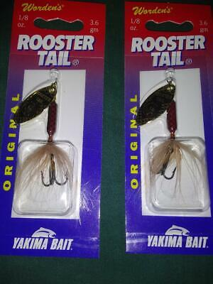 NEW Yakima Bait Wordens Original Rooster Tail Spinner Lure 3//8-214-YL Yellow
