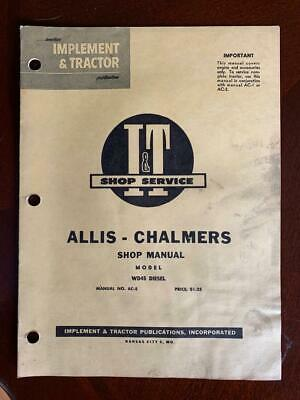 Allis Chalmers Wd45 Diesel I T Shop Service Manual Ac-5
