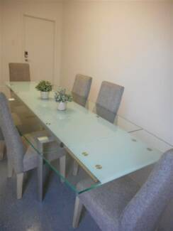 Large modern extendable dining table
