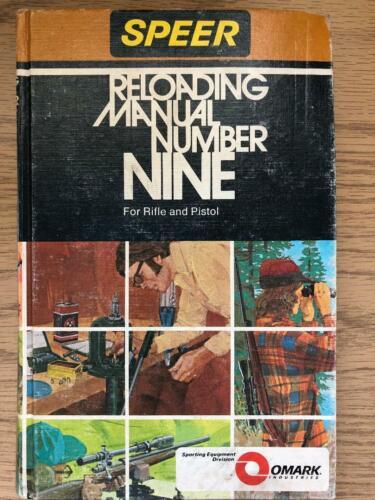 1976 SPEER RELOADING MANUAL NUMBER 9