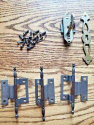 Howard Miller Grandfather Clock Complete Set Door Set 3 Hinges With Lock And Key