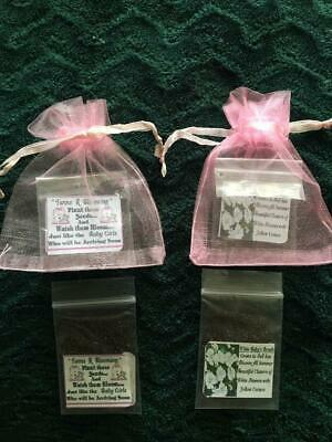 Twin Baby Shower Favors (25 Twin Baby Girls Teddy Bear Seed Favors -Baby's Breath Seeds + Free)