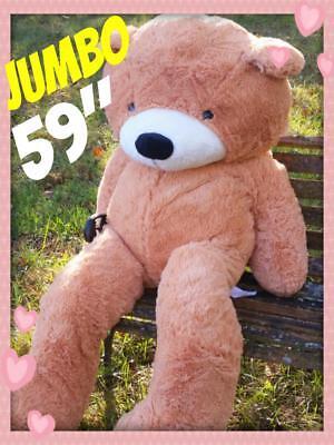 BIG HUGE PLUSH TEDDY BEAR  150CM BEST VALENTINES DAY GIFT  BEIGE CUDDLY SOFTEST](Huge Valentines Day Teddy Bear)