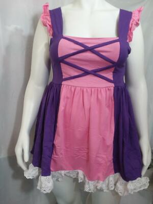 New Adult Princess Pink & Purple SUMMER DRESS](Pink Princess Dress Adults)