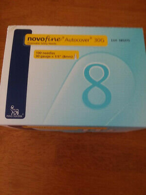 25 Novofine Autocover 30gx8mm Disposable Needle Tips 30gx8mm Brand New