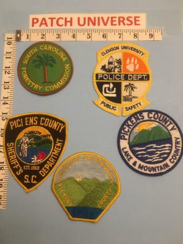 LOT OF 5 DIFF PICKENS  COUNTY SC  SHOULDER PATCHES        F063