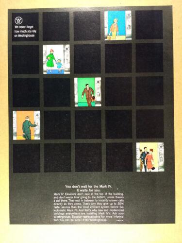 1963 Westinghouse Mark IV Elevators vintage print Ad