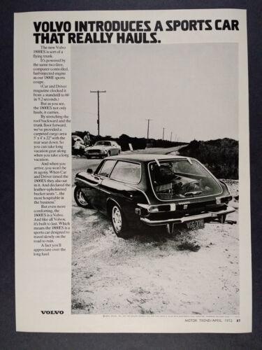 1972 Volvo 1800ES Wagon vintage print Ad