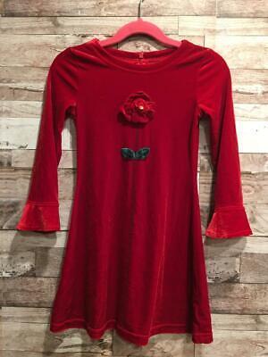 THE CHILDRENS PLACE STRETCH RED VELOUR DRESS FLOWER 4 YEARS VELVET VALENTINES DA](Kid Valentines)
