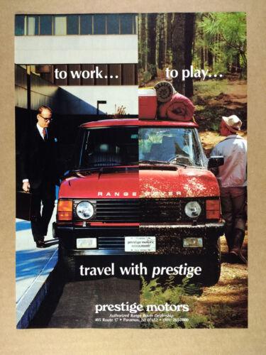1988 Range Rover Classic Prestige Motors Paramus NJ vintage print Ad