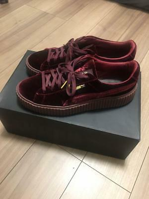For Men 10.5Us Puma Sneaker Fenty Rare Velor Burgundy Color Ryana