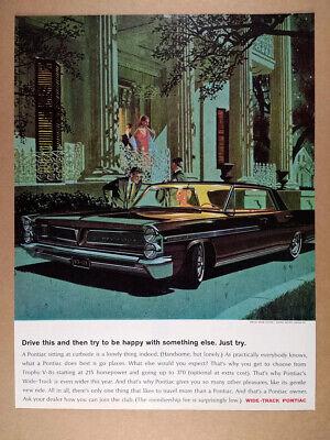 1963 Pontiac Bonneville Sedan illustration art vintage print Ad