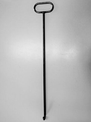 Schachthaken Kanaldeckelheber, gebogen a. Rundstahl, unbeschichtet ca. 80 cm