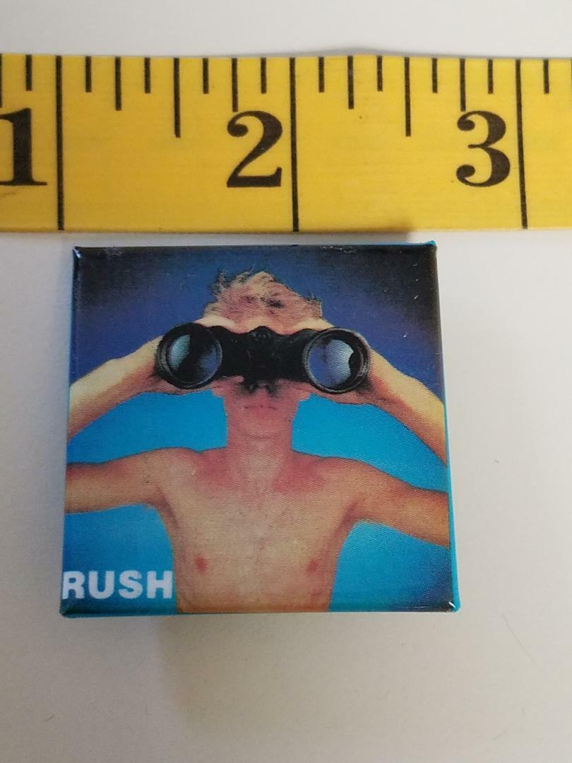 RUSH POWER WINDOWS (BOY) PIN/BUTTON - NEVER WORN OR USED. PEART, LEE, LIFESON