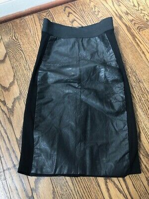 Reformation Leather Banded Pencil Skirt Size 0 XS