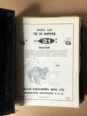 Lot Of 10 Allis-chalmers Crawler Tractor Ripper Dozers Parts Catalogs 60s-70s