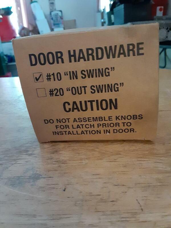 """PARTITION DOOR HARDWARE #10 """"IN SWING"""""""