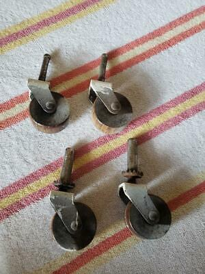 Vintage Caster Wood Wheels Working Set Of 4