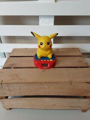 Vintage 1998 Pikachu Alarm Clock Pokemon Working