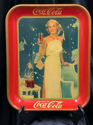 VINTAGE 1935 AUTHENTIC COCA-COLA SERVING TRAY MADGE EVANS AMERICAN ART WORKS