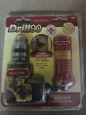 New In Package Milescraft Universal Drill 90 Model 1390 For Drills 38 Larger