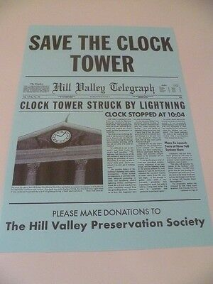 Back To The Future Save The Clock Tower Flyer