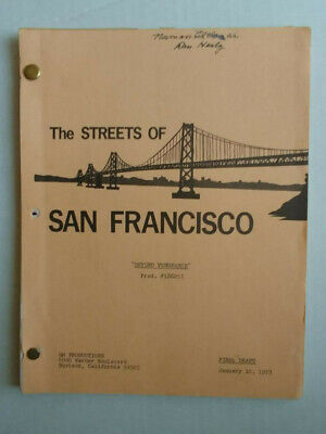 1973 STREETS OF SAN FRANCISCO SCRIPT SET USED with Notes!! Norman Alden