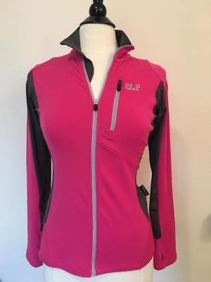 Used, Jack Wolfskin Full zip lightweight  jacket SMALL Pink/grey Nanuk Dynamic running for sale  USA