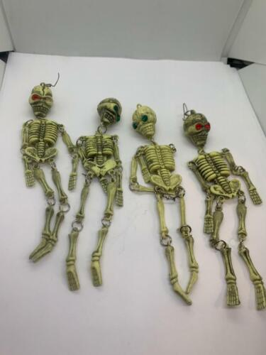 Vintage Skeletons Day of the Dead Dia de Los Muertos Figurine set of 4