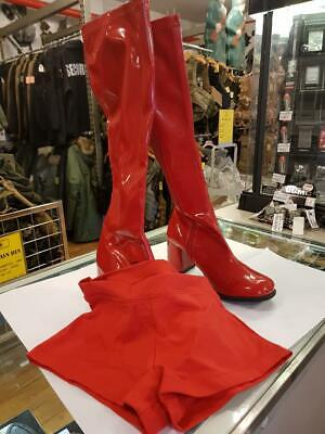 GO GO RETRO BOOTS 1960'S 70'S KNEE HIGH QUALITY (USED) WITH SPANX GLEE - 70s Go Go Boots