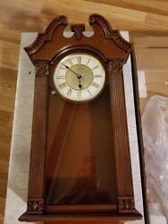 Bulova Ridgedale wall clock with pendulum BRAND NEW in original Box !!
