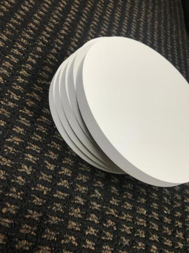 "WHITE PVC Sintra 1/2""  CIRCLE DISC 6"" DIAMETER CRAFT"