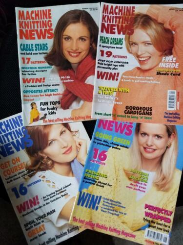 Machine Knitting News 1996 (4 issues) Mar-Jun, Magazines