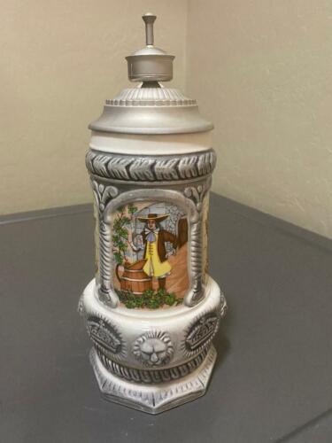 Vintage Mexico Beer Stein Modelo Handcrafted Souvenir .5 Liter