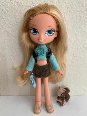 Girlz Girl Bratz Kidz Kid Cloe Doll 7 in Blonde Hair Blue Eyes Clothes Shoes Pet