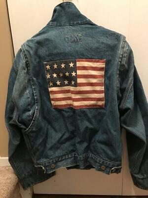 Ralph Lauren Women's Flag Jean Jacket - Medium