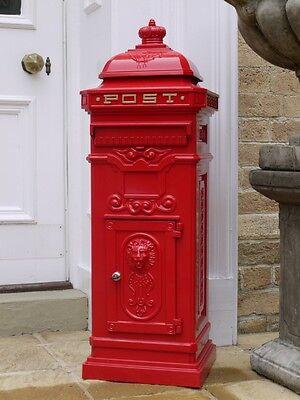 Large Post Box / Mail Box Red Pillar Box Aluminum Post Box Tall