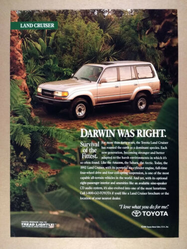 1992 Toyota Land Cruiser vintage print Ad
