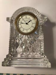 Waterford Crystal Lismore Carriage Clock (Large 7 Tall NEW