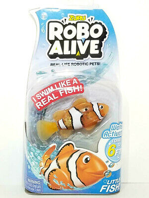 ZURU Robo Alive Water Activated CLOWNFISH Real-Life Robotic Pets! Fun For All B1