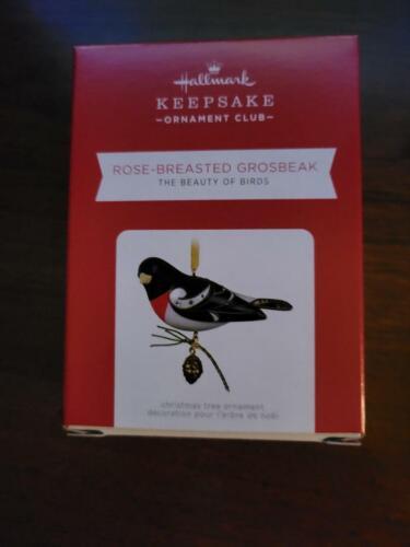 MIB Hallmark 2021 ROSE-BREASTED GROSBEAK Beauty of Birds REPAINT ORN-FREE SHIP
