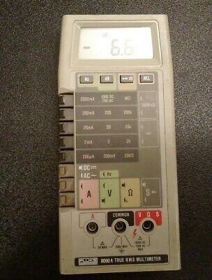 Fluke 8060a True Rms Multimter Turns On And Display Works With Manual