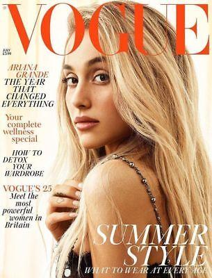 British Vogue UK Magazine July 2018: ARIANA GRANDE COVER STORY & FEATURE