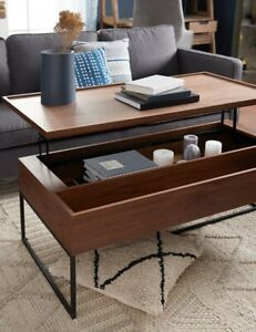 New Structube Matteo walnut coffee table with metal legs