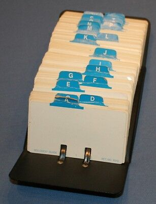 Rolodex Business Card File W 312 Cards Alphabet Model V524j Open Rotary Office